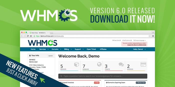 Lançamento WHMCS v6 (versão estável)