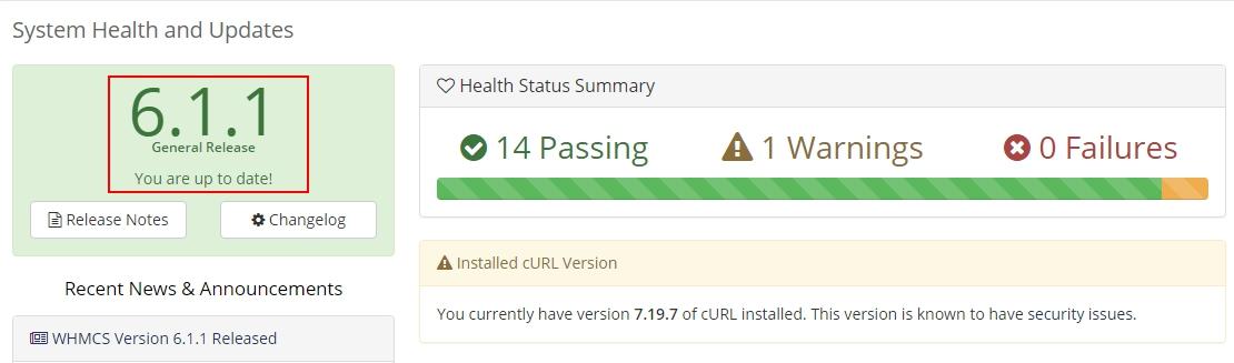 WHMCS Atualizado - v6.1.1